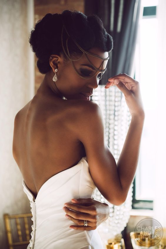 Hair:Wedding Hairstyles ForThe owners of dark skin 2017 10