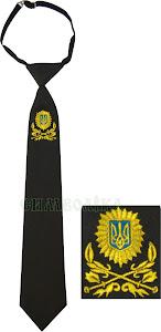 Галстук Українське козацтво/ тк. школа