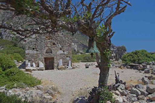 Lissos (Λισσός), la chapelle d'Agios Kirikos (Αγ. Κήρυκος).