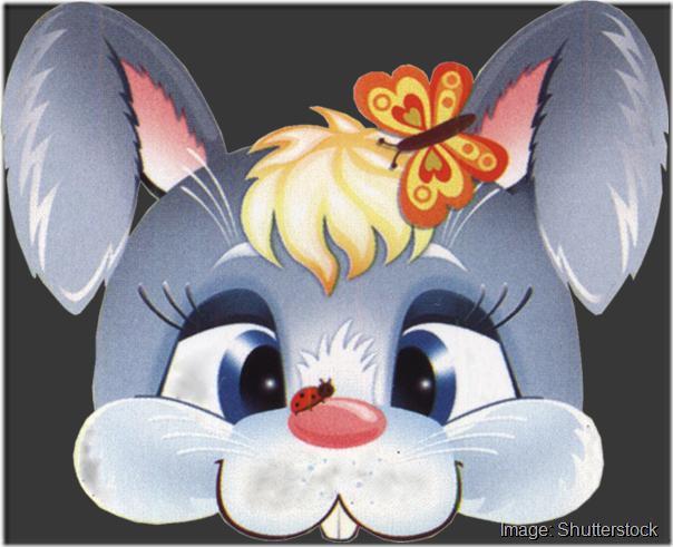 kids-face-masks-template-animals-grey-rabbit-butterfly