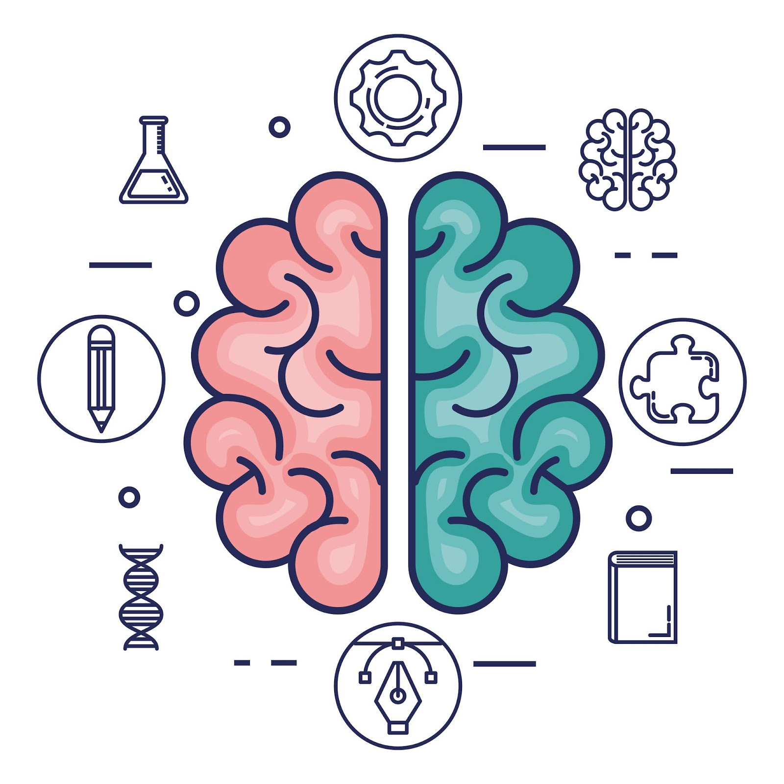 Brain Storming Set Icons Free Download Vector CDR, AI, EPS and PNG Formats