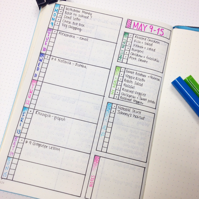 weekly spread for bullet journal - christina77star