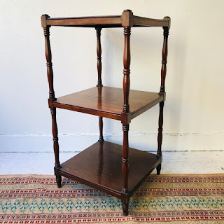 Mahogany Three-Tier Accent Table