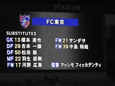 横浜F・マリノスvsFC東京 FC東京控え