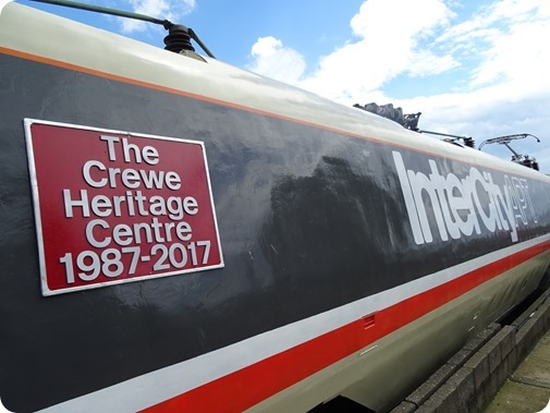 The Crewe Heritage Centre 1987-2017  commemorate plaque attached to the APT
