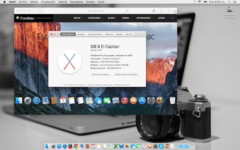 OS X El Capitan – Opinión Personal