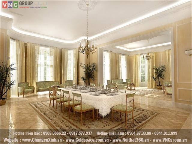 Mẫu thiết kế nội thất tân cổ điển mẫu số 1