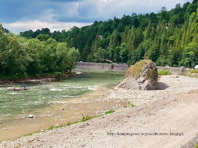 Na zdjęciu Dunajec w Szczawnicy