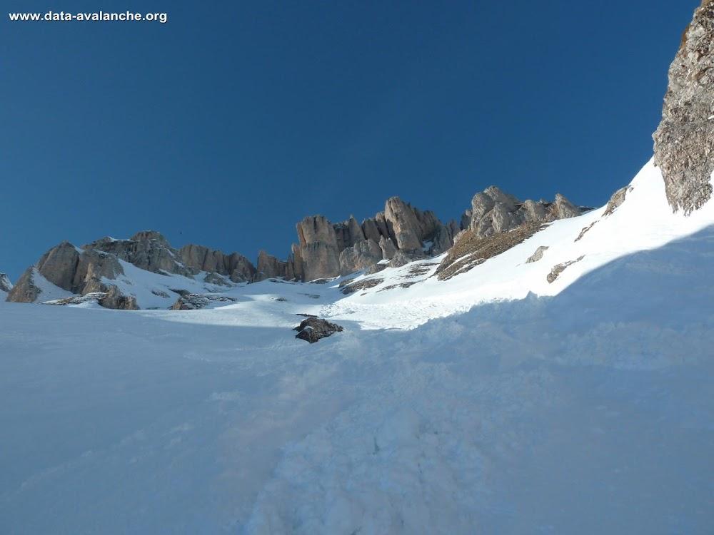 Avalanche Dévoluy, secteur Le Petit Obiou, couloir sud-est - Photo 1