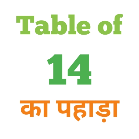 14 Ka Pahada ( 14 का पहाड़ा ) 14 ka pahada in hindi - Group Exam