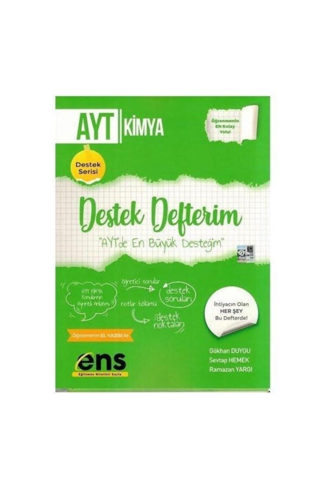 ENS Yayınları - TYT Kimya - Destek Defterim
