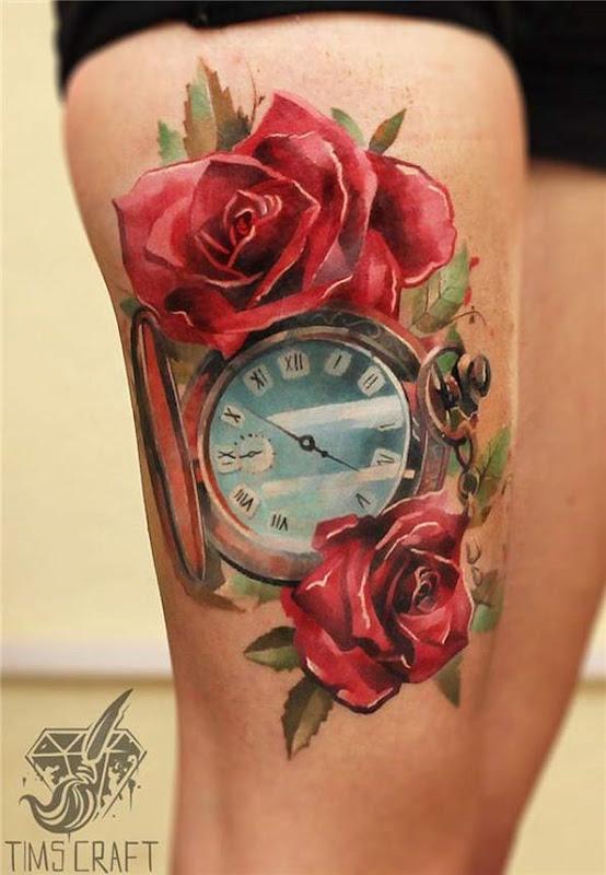aquarela_relgio_de_bolso_coxa_tatuagem