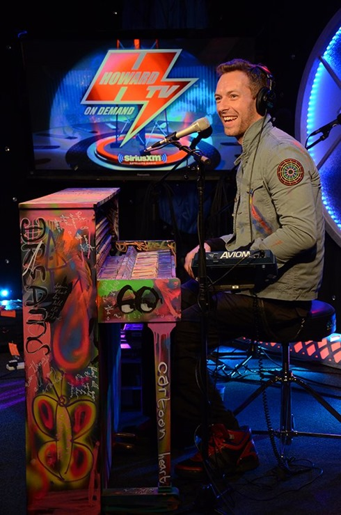 Chris Martin Visits Howard Stern (2)