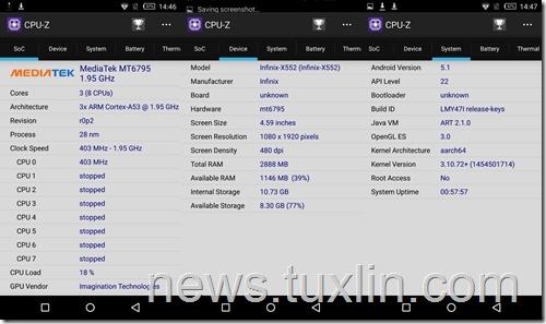 CPU-Z Infinix Zero 3 X552