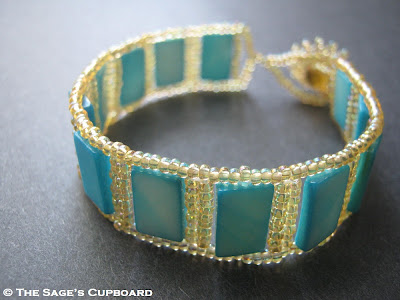Blue Shell Rectangle Bracelet