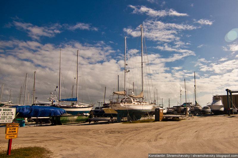 USA Florida Cape Canaveral Cape Marina США Флорида Мыс Канаверал Кейп Марина