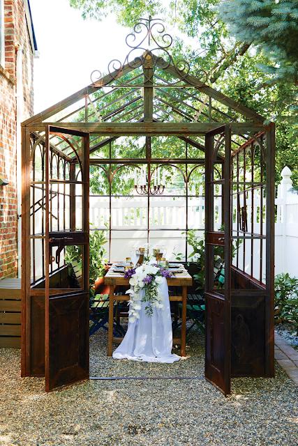 greenhouse al fresco dining area