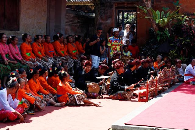 Músicos en el Palacio de Ubud