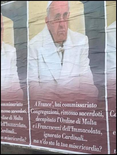 Anti Franziskus Plakat