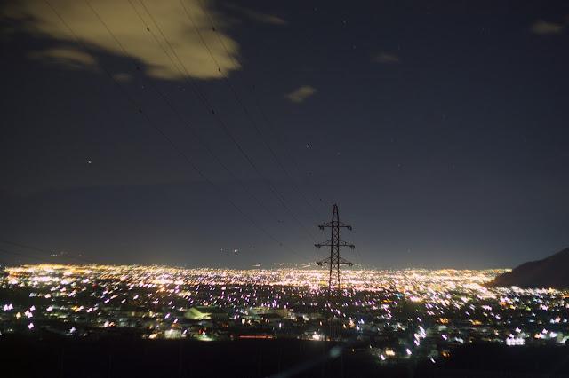 勝沼の夜景