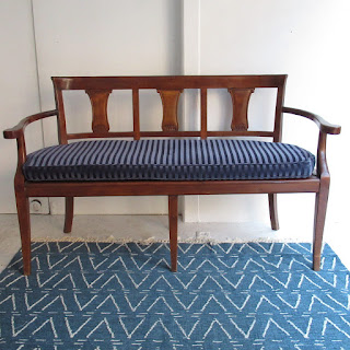 Cherry Wood Caned Bench
