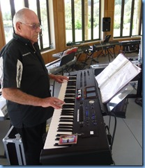 Laurie Conder playing his DX-9 Roland