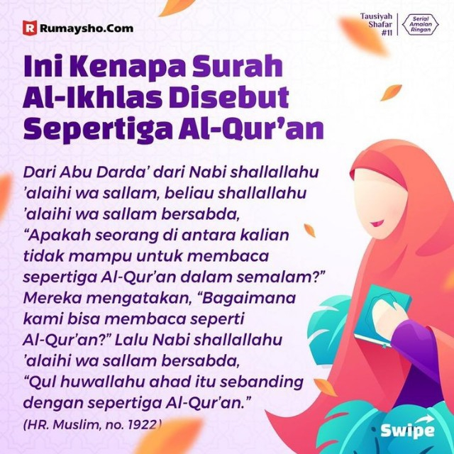 Nak tau khasiat surah Al-Ikhlas? Jom baca ni. Menarik sangat.