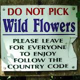 знак не рвать цветы Do not pick Wild Flowers Please leave for everyone to enjoy follow the country code Не рвите полевые цветы Пожалуйста, дайте и другим ими насладиться