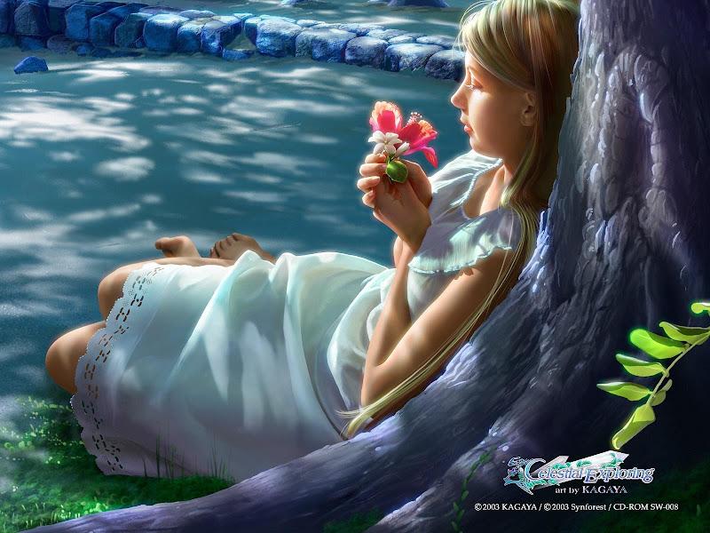 Red Flower Of Dreams In My Hands, Magic Beauties 2