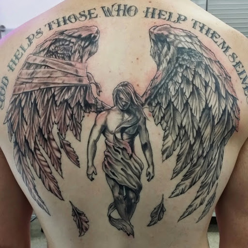 99 Breathtaking Angel Tattoos With Meaning: 52 Awesome Angel Tattoo Ideas