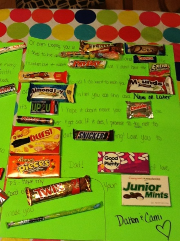 Barefoot and Krazy!: Fathers Day Candy Card