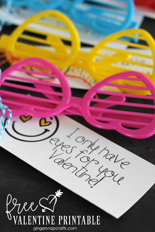 I only have eyes for you FREE Valentine printable at GingerSnapCrafts.com_thumb