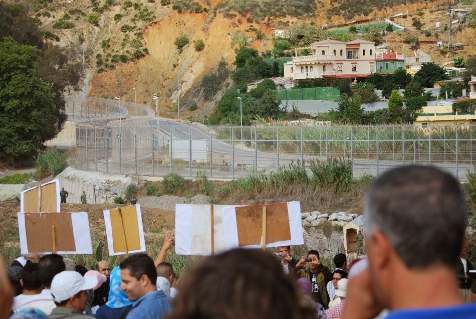 Caravana a la valla de Ceuta 27