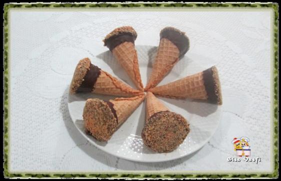 Cones de pão de mel 5