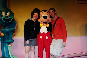 With Laura and Mickey Mouse