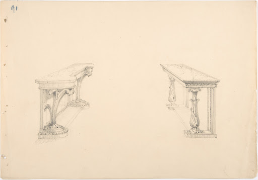 Design for Two Marble-topped Pier Tables
