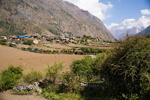 Vesnice v oblasti severní Gorkhy, kterou zasáhlo zemětřesení v dubnu 2015. (Foto: Petr Pospíchal)