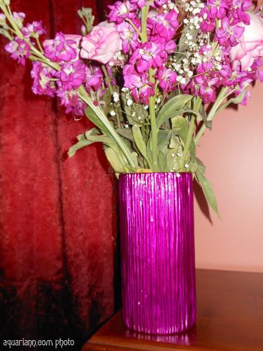 Fuchsia Flower Vase