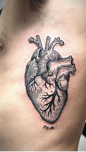 Humanos realista coracao tatuagens de desenhos em reforcos para homens e mulheres