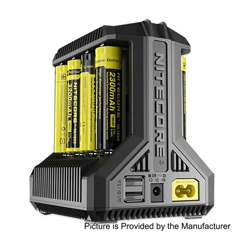 authentic nitecore i8 intellicharger multi slot intelligent battery charger 8 x battery slots us plug thumb%255B2%255D - 【海外】「XOMO GT Laser 150W 3500mAh」「Nitecore i8 Intellicharger」「Joyetech eVic Primo SE 80W」「Iwodevape 510 Vapeスピナー」など