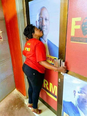 Kandara legislator Alice Wahome kissing deputy president Photo. PHOTO | BMS