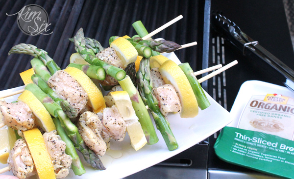 Grilling lemon pepper chicken kabobs