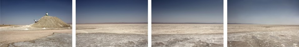 Primeira frame com um monte construído e as restantes três todas vazias, apenas se distingue o sal