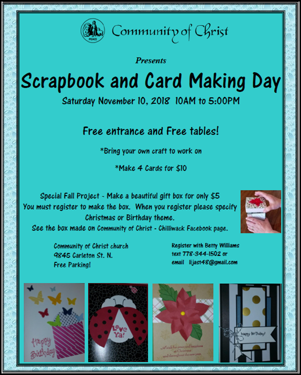Craft Day fall 2018