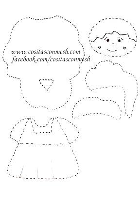 moldes-figuras-navideñas-foami