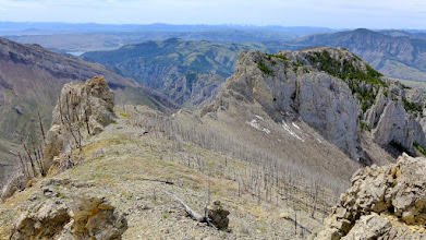 Photo: Here is a view of the cliff that I decided not to descend - photo taken during trip to Willow Mtn. one year earlier.