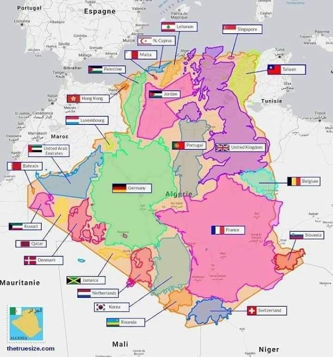 Argelia, el país continente: El estado del tamaño de 25 países juntos.
