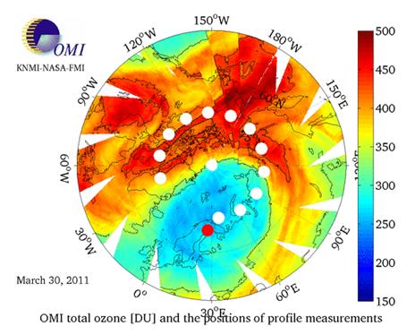 fuerte pérdida en la capa de ozono estratosférico
