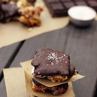 Salted Dark Chocolate Nut Bites {Gluten-free, Grain-free, Dairy-free, Refined Sugar-free)