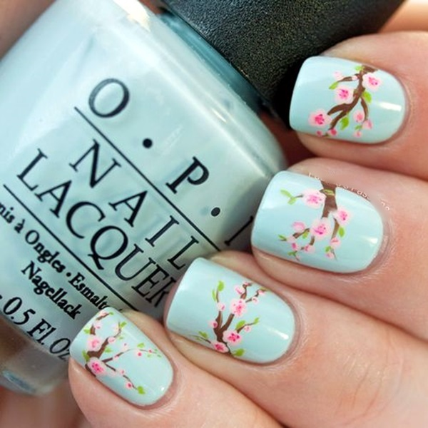 Latest Flower Nail Art Desgins Ideas In 2018 7